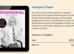 Monopol: Digitales Jahresabo für 1 statt 107,80 Euro