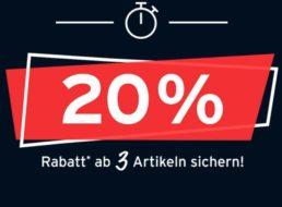 Tchibo: 20 Prozent Rabatt beim Kauf von drei Sale-Artikeln