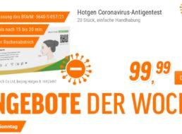 NBB: 20er-Pack Antigen-Schnelltest für 99,99 Euro
