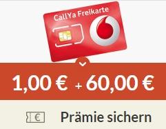 Gratis: 3 Monate Callya-Digital im Wert von 60 Euro & 1 Euro geschenkt