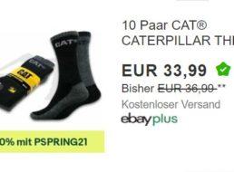 Caterpillar: 10er-Pack Thermosocken mit 20 Prozent Extra-Rabatt