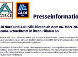 Aldi: Corona-Schnelltests im Fünferpack für 25 Euro ab 6. März