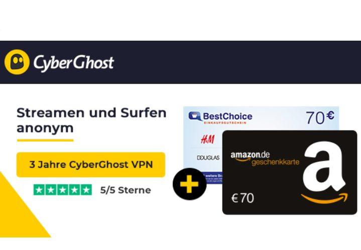 Wieder da: 3 Jahre Cyberghost VPN für rechnerisch 22 Cent im Monat