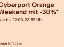 "Cyberport: ""Orange Weekend"" mit Technik-Artikeln ab 14,89 Euro"