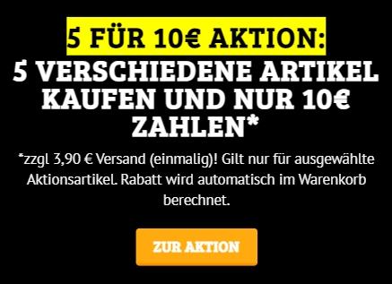 Dealclub: Fünf Artikel nach Wahl für 10 Euro plus Versand