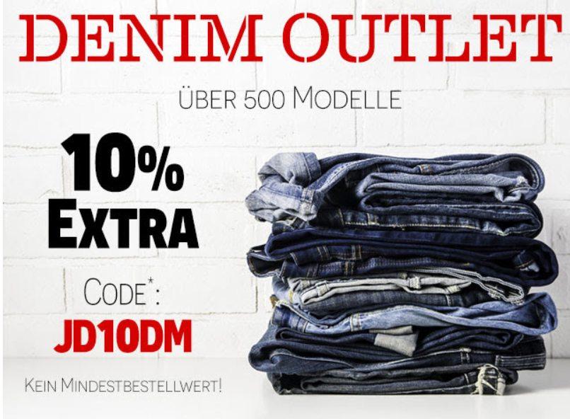 Jeans Direct: 10 Prozent Rabatt auf bereits reduzierte Ware
