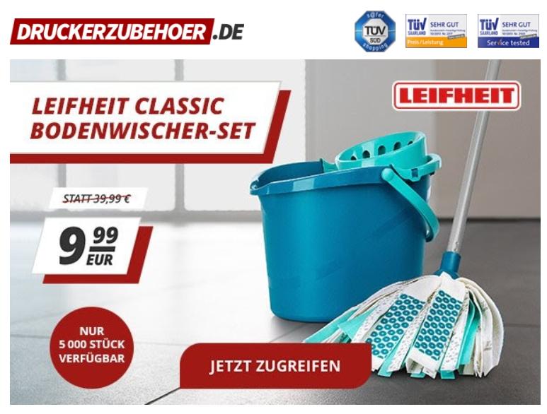 Druckerzubehoer: Leifheit Classic Bodenwischer-Set für 9,99 Euro