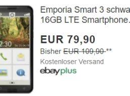 """Ebay: Senioren-Smartphone """"Emporia Smart 3"""" als B-Ware für 79,90 Euro"""