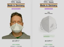 """Exklusiv: FFP2-Masken """"Made in Germany"""" mit 10 Prozent Extra-Rabatt"""