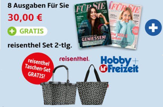 """Gratis: Reisenthel-Taschenset zum """"Für Sie""""-Probeabo für 30 Euro"""