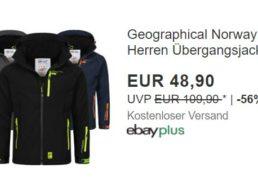 Geographical Norway: Atmungsaktive Übergangsjacke für 48,90 Euro frei Haus