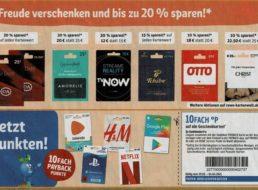 Rewe: Guthabenkarten mit bis zu 20 Prozent Rabatt bis Sonntag