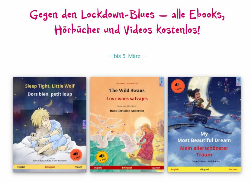 Gratis: Zweisprachige Kinderbücher (und MP3) zum kostenlosen Download