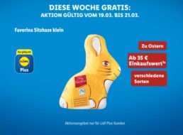 Lidl-Plus: Gratis-Osterhase ab 35 Euro Einkaufswert