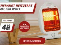Wieder da: Infrarot Heizgerät mit 800 Watt für 4,99 Euro