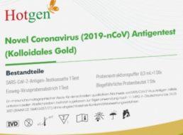 Galeria: Corona-Schnelltest im 5er-Pack für 25 Euro