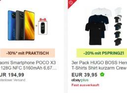 """Ebay: 3er-Pack T-Shirts von """"Hugo Boss"""" für 31,96 Euro frei Haus"""