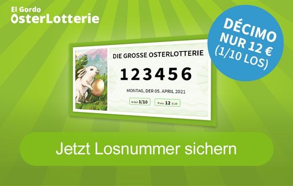 OsterLotterie 2021: Jedes dritte Los gewinnt, Lose ab 1 Euro