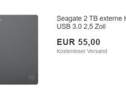 Seagate: Externe Festplatte mit zwei TByte als B-Ware für 55 Euro