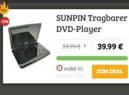Dealclub: Tragbarer DVD-Player für 39,99 Euro frei Haus