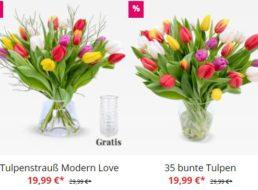 Blumeideal: 20 Tulpen mit Vase für 24,98 Euro frei Haus