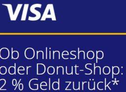 Visa: Bis zu 50 Euro geschenkt via Cashback-Aktion
