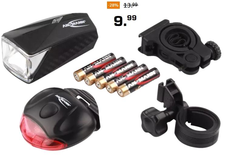 Ansmann: Bikelight LiteRider Fahrradbeleuchtung mit Zulassung für 9,99 Euro