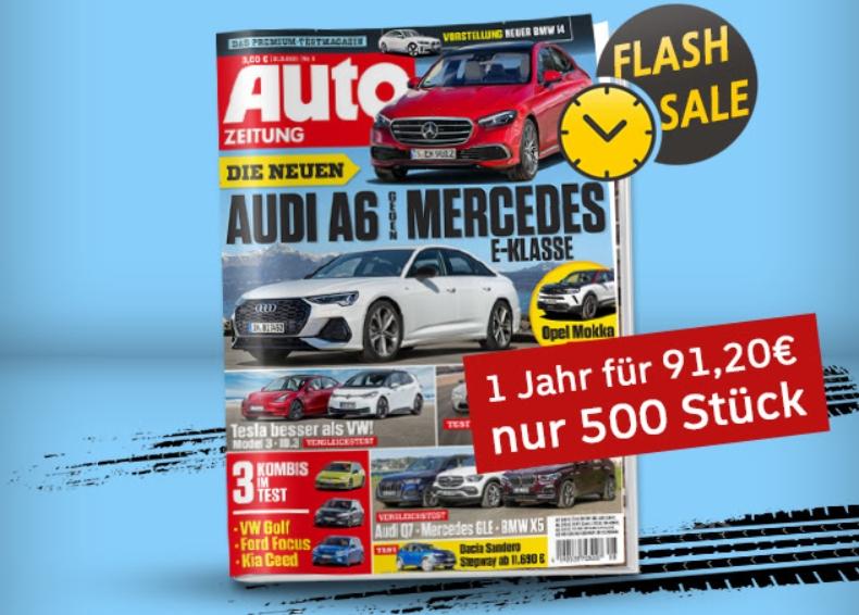 Auto Zeitung: Jahresabo für 91,20 Euro mit Gutschein über 95 Euro