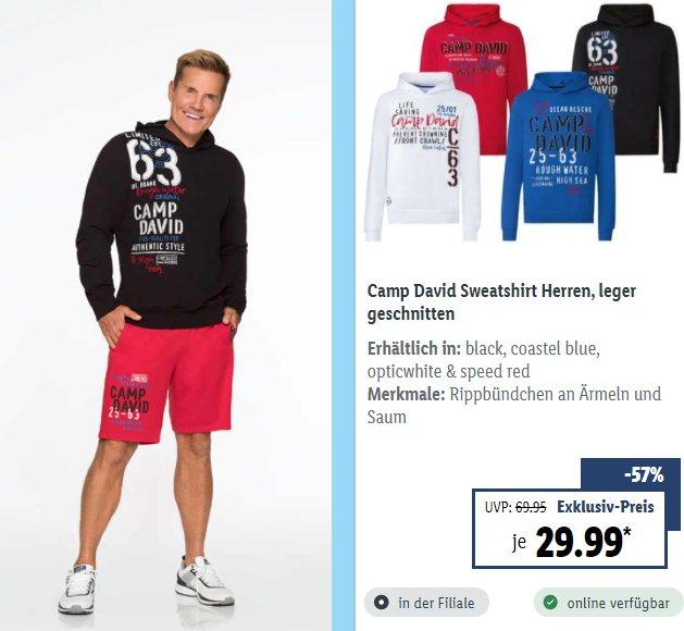 """Lidl: Mode von """"Camp David"""" für kurze Zeit mit Rabatt"""