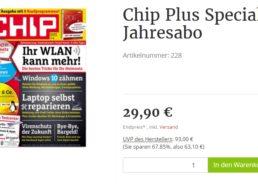 Chip Plus: 12 Ausgaben mit 24 DVDs für 29,90 Euro frei Haus