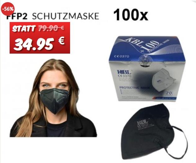 Dealclub: 100 FFP2-Masken für 34,95 Euro frei Haus