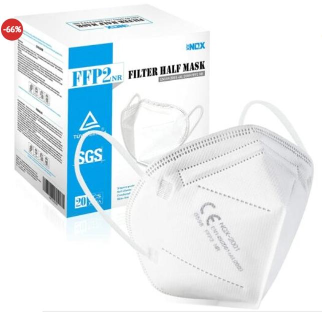 Dealclub: 100er-Pack FFP2-Masken mit Top-Bewertung für 37,77 Euro frei Haus
