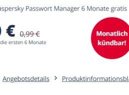 """Gratis: """"Kaspersky Passwort Manager"""" für 6 Monate zum Nulltarif"""