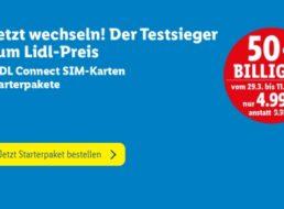 Lidl Connect: Startpaket mit 10 Euro Guthaben für 4,99 Euro