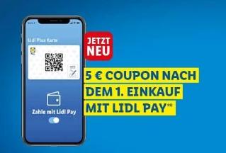 """Lidl: 5 Euro Rabatt für Nutzung von """"Lidl Pay"""""""