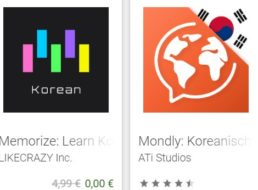Gratis: Memorize Korean Words für 0 statt 4,99 Euro