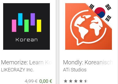 Gratis: Memorize Korean Words für 0 statt 4,99 Euro