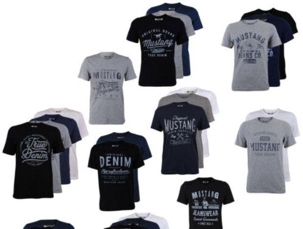 Mustang: Viererpack T-Shirts für 39,95 Euro via Ebay