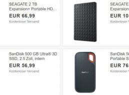 Ebay: Speicher-Schnäppchen ab 56,99 Euro