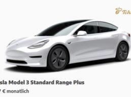 Tchibo: Tesla für 777 Euro im Monat, Fiat für 289 Euro