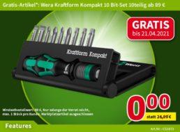 Gratis: Kraftform-Bitset bei Völkner ab 89 Euro Warenwert geschenkt