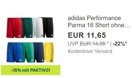 Ebay: Atmungsaktive Shorts von Adidas für 9,90 Euro frei Haus