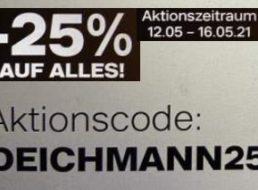 Deichmann: 25 Prozent Rabatt bis Sonntag