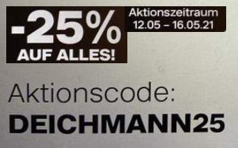 Deichmann: 25 Prozent Rabatt bis Donnerstag