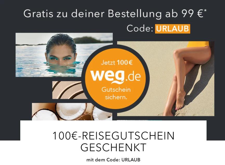 Gratis: Gutschein über 100 Euro bei Weg.de zur Douglas-Bestellung