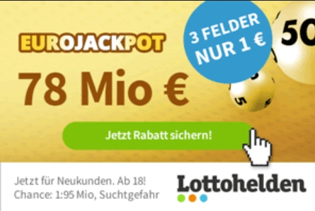 Euro-Jackpot: Um 78 Millionen mit Rabatt mitspielen
