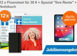 """Finanztest: Jahresabo inklusive Spezial """"Ihre Rente"""" für 30 Euro"""