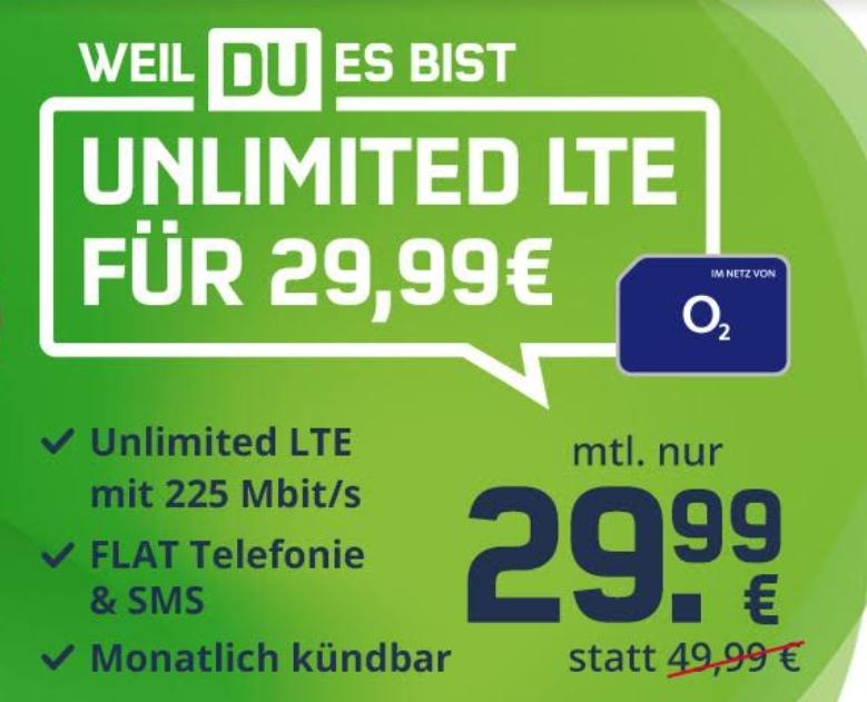 Mobilcom: Monatlich kündbare Unlimited LTE-Flat für 29,99 Euro