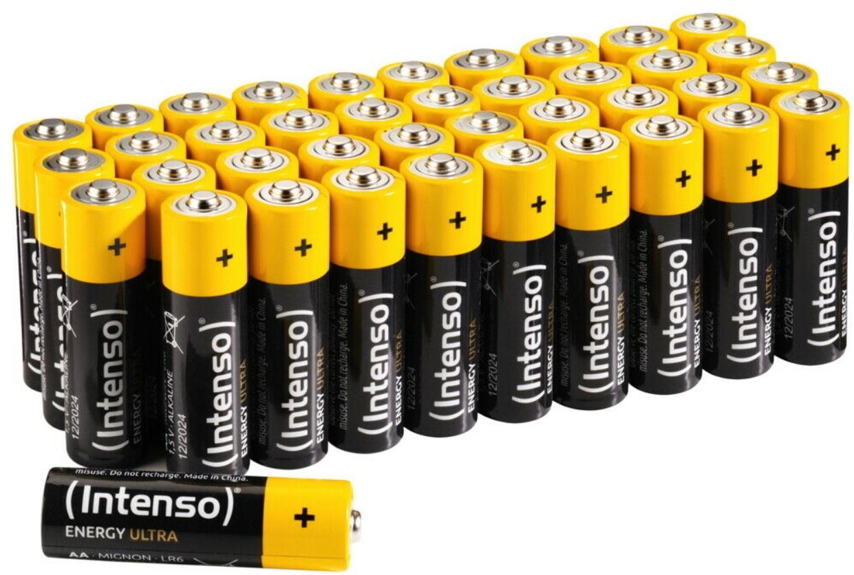 Ebay: 40er-Pack Mignon-Batterien von Intenso für 8,99 Euro frei Haus