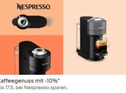 Ebay: Nespresso-Rabatt von zehn Prozent bis 17. Mai